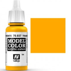 Acrilico Model Color, Amarillo transparente, ( 184 ). Bote 17 ml. Marca Vallejo. Ref: 70.937.