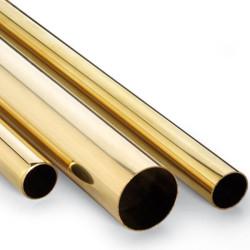 Tubo redondo de Latón 1 x 0.2 mm, longitud 1m. Marca Dismoer. Ref: 33209.