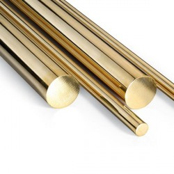 Tubo redondo macizo de Latón 3 mm, Longitud 1m. Marca Dismoer. Ref: 33098.
