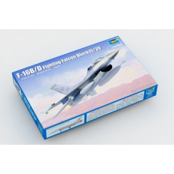 Caza F-16B/D Fighting, Falcon Block 15/30. Escala 1:144. Marca Trumpeter. Ref: 03920.