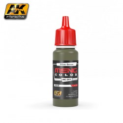 Acrilico Olive Green, meng. Bote 17 ml. Marca Ak-Interactive. Ref: mc-203.