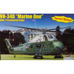 "Helicoptero VH-34D ""Marine one"". Escala 1:48. Marca MRC. Ref: 64105."