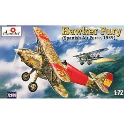 Hawker Fury MkI / MkII. Escala 1:72. Marca Amodel. Ref: 72139.