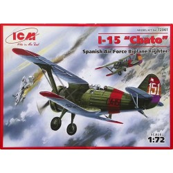 "Biplano I-15 "" Chato "" Air Force, español. Escala 1:72. Marca ICM. Ref: 72061."