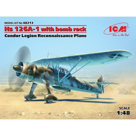 Henschel Hs-126A-1 bomb rack, Condor Legión. Escala 1:48. Marca ICM. Ref: 48213.