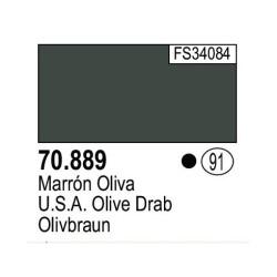 Acrilico Model Color, Marrón oliva ( 091 ). Bote 17 ml. Marca Vallejo. Ref: 70.889.