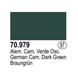 Acrilico Model Color, Alemán Camuflaje Verde oscuro ( 097 ). Bote 17 ml. Marca Vallejo. Ref: 70.979.
