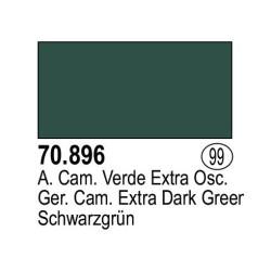 Acrilico Model Color, Alemán Camuflaje Verde extra oscuro ( 099 ). Bote 17 ml. Marca Vallejo. Ref: 70.896.