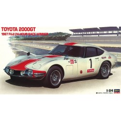 Historic Racing Car Toyota 2000GT 1967 Fuji 24 Hour Race Winner.  Escala 1:24. Marca Hasegawa. Ref: 21051.