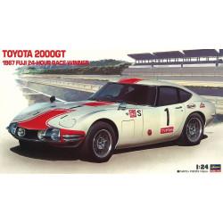 Historic Racing Car Toyota 2000GT 1967 Fuji 24 Hour Race Winner. Escala 1:24. Marca Hasegawa. Ref: 21051.