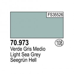 Acrilico Model Color, Verde gris medio ( 108 ). Bote 17 ml. Marca Vallejo. Ref: 70.973.