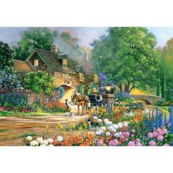Puzzle Rose Lane House, Douglas R. Laird. Puzzle 3000 piezas. Marca Castorland. Ref: 300235.
