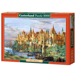 Puzzle City of Rothenburg. Puzzle 3000 piezas. Marca Castorland. Ref: C-300174.