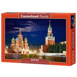Puzzle Red Square by night in Moscow, Russia. Puzzle 1000 piezas. Marca Castorland. Ref: C-101788.