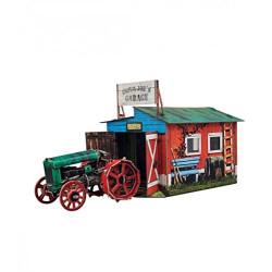 Tractor con garaje. Puzzle 3D de Montaje. Marca Clever Paper. Ref: 14371.