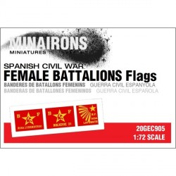 Banderas  de batallones femeninos. Escala 1:72. Marca Minairons miniatures. Ref: 20GEC905.