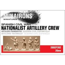 Artillería Nacional. Contiene 4 figuras metal. Escala 1:72. Marca Minairons miniatures. Ref: 20GEF008.