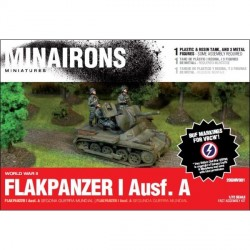 Tanque Flakpanzer I ausf. A. Contiene 1 modelo y 3 figuras. Escala 1:72. Marca Minairons miniatures. Ref: 20GMV001.
