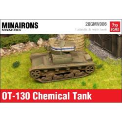 Carro lanzallamas OT-130. Contiene piezas adicionales para T26 A. Escala 1:72. Marca Minairons miniatures. Ref: 20GMV006.
