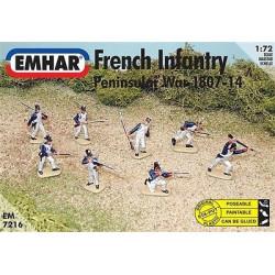 Figuras de Infanteria Francesa, ( 1807-14 ). Escala 1:72. Marca Emhar. Ref: EM7216.