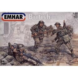 Figuras de Infanteria Británica WWI . Escala 1:35. Marca Emhar. Ref: EM3501.