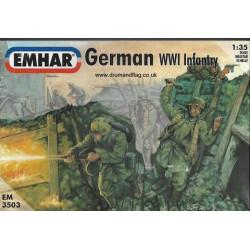 Figuras de Infanteria Alemana WWI. Escala 1:35. Marca Emhar. Ref: EM3503.