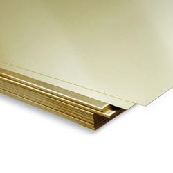 Plancha de Latón 400 x 200 mm, 0.50 mm, 1und. Marca Dismoer. Ref: 33293.