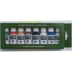 Set Game color, Wargame básico de 8 colores. Bote 17 ml. Marca Vallejo. Ref: 70.103.