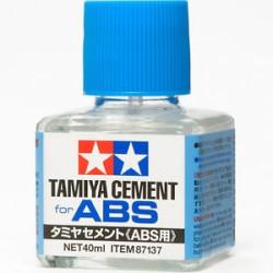 Adhesivo para plástico ABS. Bote de 40 ml. Marca Tamiya. Ref: 87137.