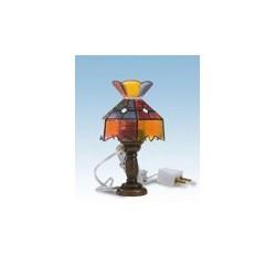 Lámpara sobremesa Tíffany multicolor. Marca Artesanía Latina. Ref: 12980.