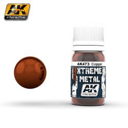 Xtreme Metal, copper. Contiene 35 ml. Marca AK Interactive. Ref: AK473.