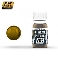 Xtreme Metal, brass. Contiene 30 ml. Marca AK Interactive. Ref: AK475.