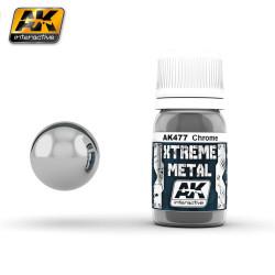 Xtreme Metal, chrome. Contiene 35 ml. Marca AK Interactive. Ref: AK477.