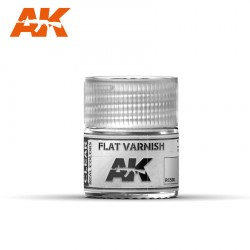 Flat Varnish, Barniz mate. Cantidad 10 ml. Marca AK Interactive. Ref: RC500.
