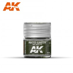 Nato green Ral 6031-F9. Cantidad 10 ml. Marca AK Interactive. Ref: RC080.