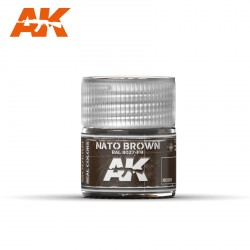 Nato brown Ral 8027-F9. Cantidad 10 ml. Marca AK Interactive. Ref: RC081.