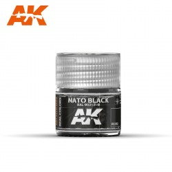 Nato Black ral 9021-F9. Cantidad 10 ml. Marca AK Interactive. Ref: RC082.