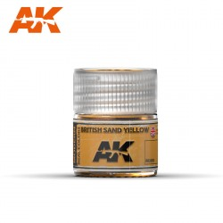 British Sand yellow. Cantidad 10 ml. Marca AK Interactive. Ref: RC093.