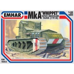 "Medium tank MkA "" whippet""  WWI. Escala 1:35. Marca Emhar. Ref: EM4003."