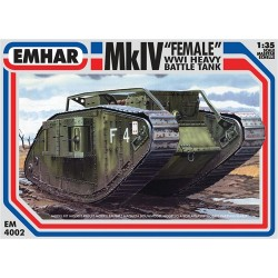 "Tanque heavy battle, Mk IV "" Female "" WWI. Escala 1:35. Marca Emhar. Ref: EM4002."