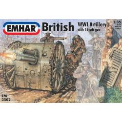Figuras de artílleria Británica WWI . Escala 1:35. Marca Emhar. Ref: EM3502.