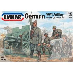 Figuras de artílleria Alemana WWI. Escala 1:35. Marca Emhar. Ref: EM3504.