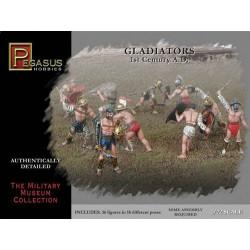 Figuras de Gladiadores del 1º siglo A.D. Escala 1:72.  Marca Pegasus. Ref: 7100.