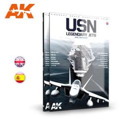 Libro USN, Reactores de leyenda. Guia de aircraft para modelismo a escala. Marca AK Interactive. Ref: AK279.