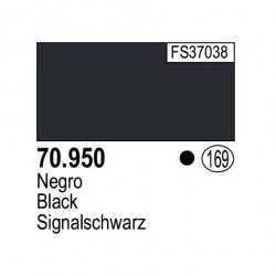 Acrilico Model Color, negro ( 169 ). Bote 17 ml. Marca Vallejo. Ref: 70.950.