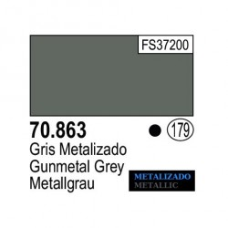 Acrilico Model Color, Gris metalizado ( 179 ). Bote 17 ml. Marca Vallejo. Ref: 70.863.
