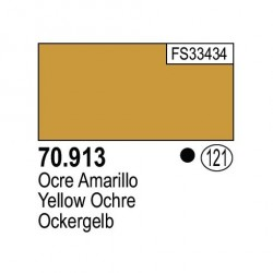 Acrilico Model Color, Ocre amarillo ( 121 ). Bote 17 ml. Marca Vallejo. Ref: 70.913.