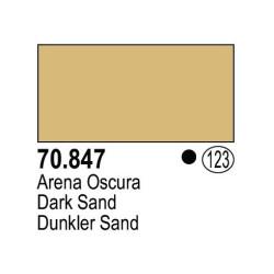 Acrilico Model Color, Arena oscura ( 123 ). Bote 17 ml. Marca Vallejo. Ref: 70.847.