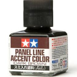 Panel line, marrón oscuro. Marca Tamiya. Ref: 87140.