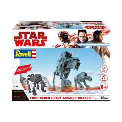 First Order Heavy Assault Walker con luz y sonido, Star War. Escala 1:164. Marca revell. Ref: 06761.
